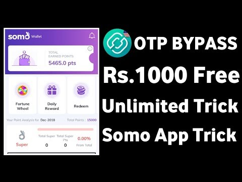 Unlimited Trick !! 5rs Per Refer !! OTP Bypass Trick !! Somo App