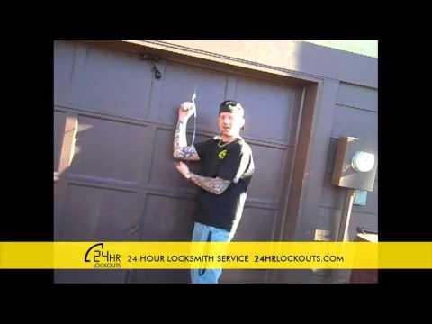 24HrLockouts  How to Pick a Garage Door