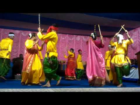 Very popular dance form  dadia . Participate students of g K college of education ......