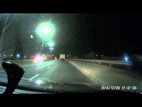 Szybki test wideorejestratora jazdy G1WH w nocy
