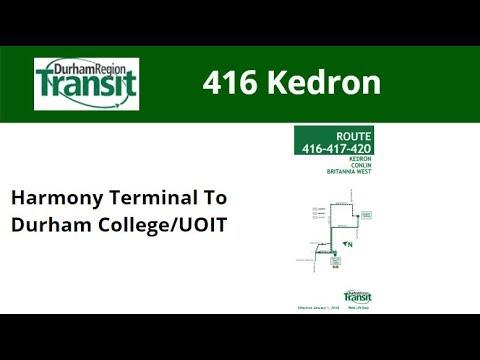 DRT 2016 NovaBus LFS #8563 On 416 Kedron (Harmony Term To Durham College/UOIT - Full)