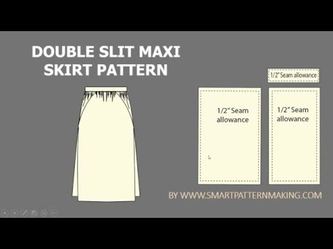 How to Make a Maxi Double Slit skirt Pattern in 6 Simple Steps
