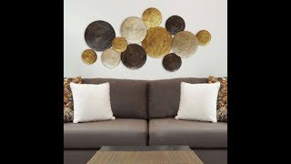 DIY DOLLAR TREE CIRCLES WALL DECOR:THEIR PRICE $193.99 OURS UNDER $20.00