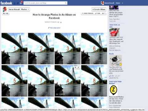 How to Arrange Photos In An Album On Facebook