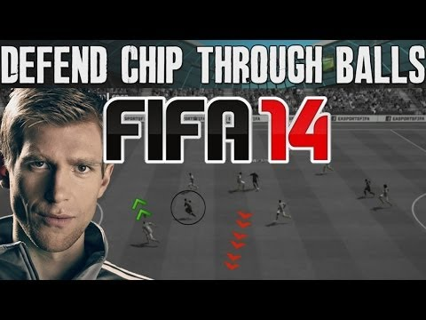 FIFA 14 Tutorials & Tips | How to Defend Chip Through Balls + Stop Lob | Best FIFA Guide (FUT & H2H)