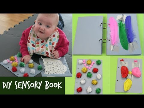 DIY SENSORY BOOK | HOW TO MAKE A SENSORY BOOK FOR BABIES