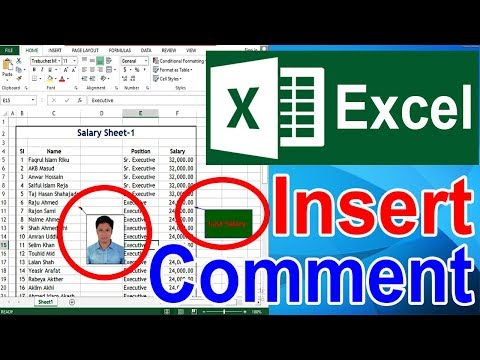 Add Insert Comment in Excel Bangla Tutorial | এক্সেল Comment Add/Show/Hide/Add Picture/Format/Delete