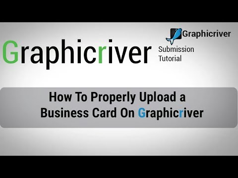 How To Properly Upload a Business Card On Graphicriver | Graphicriver Submission Tutorial