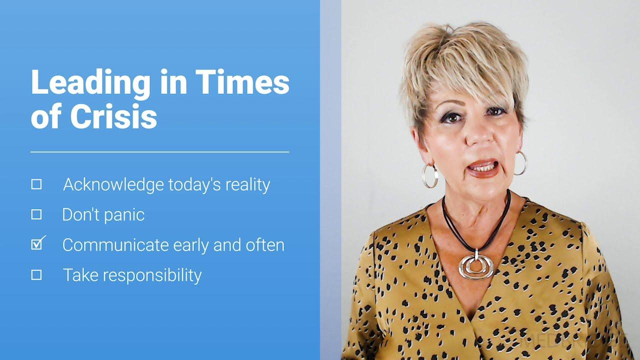 COVID-19 Leadership Tips: Leading in Times of Crisis - Linda Shell | MedBridge