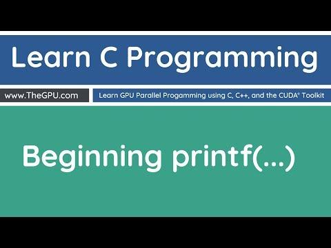 Learn C Programming - Beginning PrintF