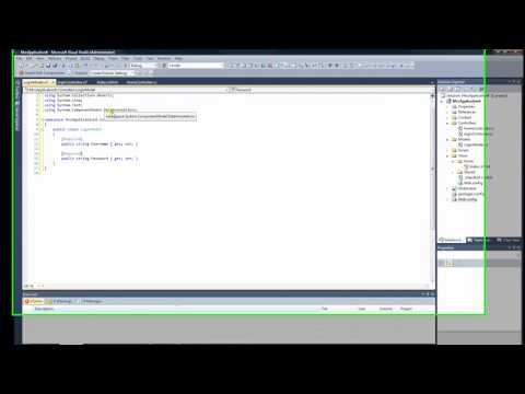 How to create a login page using ASP.NET MVC 3 Razor (1 of 5)