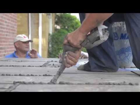 Installing stone on the front steps  Episode # 178 Hardcore Renos
