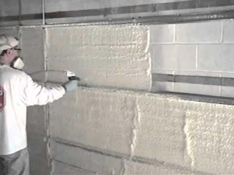 Interior concrete block wall application