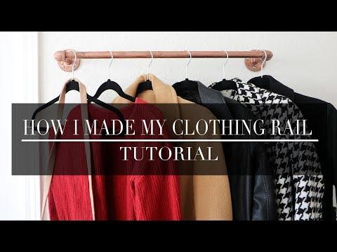 DIY WALL CLOTHING RAIL   LINGYWASHERE