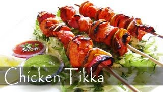 Indian Chicken Tikka / Murg Tikka is an authentic Punjabi starter and can be made into a main course gravy, called Chicken Tikka Masala. It goes well with Butter Garlic Naan.Try this out and you and your guests will love it.  Subscribe http://www.youtube.com/subscription_center?add_user=readysteadyeat  Please leave your comments in the comments section. Your feedback will be appreciated. Thanks for watching!!  For More recipes on Ready Steady Eat http://www.youtube.com/readysteadyeat