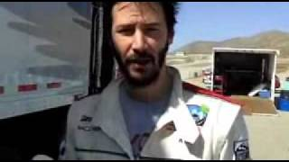 Christian Slater interviews Adrien Brody and Keanu Reeves during training for the 2010 Toyota Pro/Celebrity Race courtesy of Toyota Racing.