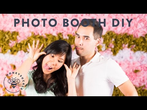 A DIY Photo booth Backdrop Wall - Honeysuckle