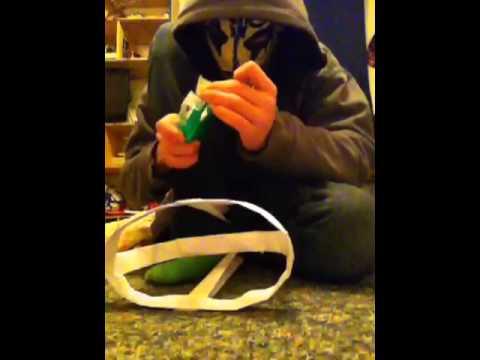How to make a paper batman mask part 2