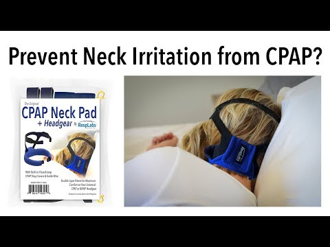 Prevent CPAP Neck Pain, Irritation or a Rash from Mask Headgear » Original CPAP Neck Pad by RespLabs