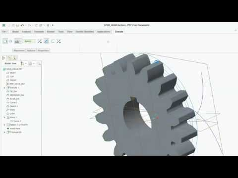 How to model spur gear in creo 3.0,2.0 (equation driven)