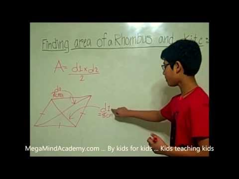 Finding  the Area of Rhombus and Kite