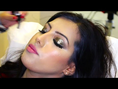 Bridal Makeup Tutorial with Glitter