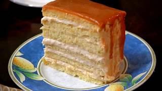 كيكة بحشوة كريمة الكراميل/كيك الكرميل, كيكة لكافة المناسبات Caramel Cream Cake