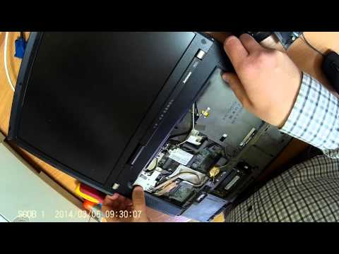 ThinkPad R61i - wymiana wiatraczka / fan replacement - disassembly