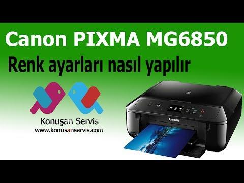 Canon Yazıcılarda renk ayarı nasıl yapılır Konusanservis.com