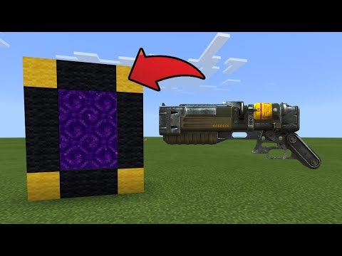 How To Make a Portal to the Laser Gun Dimension in MCPE (Minecraft PE)