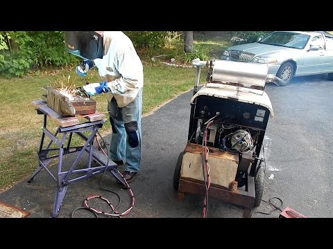 HOMEMADE WELDER! 250 AMPS from old car engine!