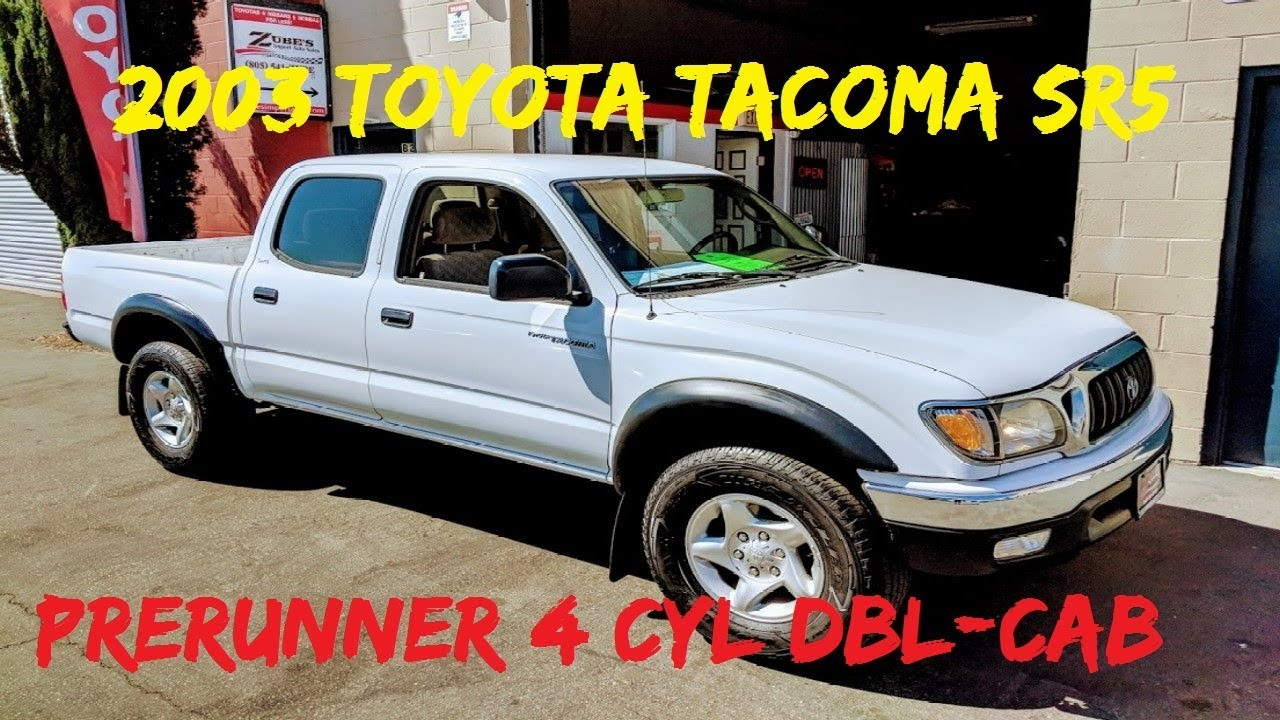 2003 Toyota Tacoma Prerunner Double Cab 2.7L 4 Cylinder 2WD **SOLD** San Luis Obispo, CA