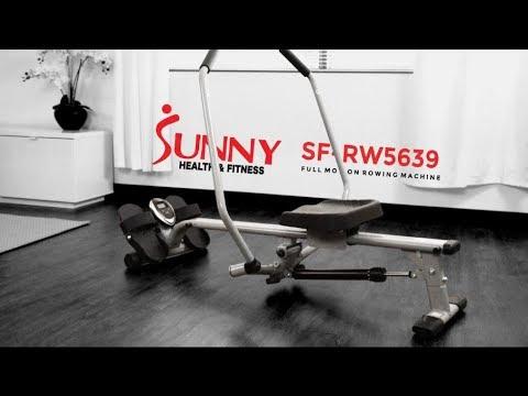 Sunny Health & Fitness SF RW5639 Full Motion Rowing Machine