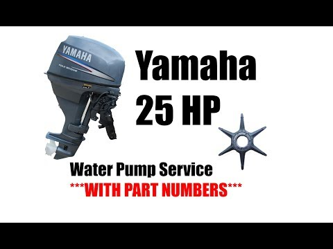How to Change a 25 Hp Yamaha Outboard Water Pump Impeller