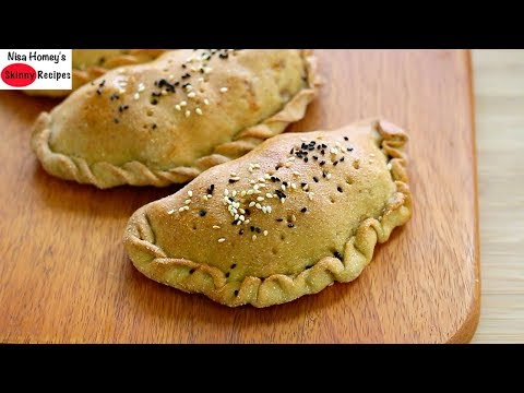 Whole Wheat Stuffed Pizza Bread Recipe - How To Make Calzone - Indian Stuffed Pizza Pocket Paratha