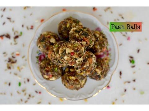 Easy Homemade mouth freshener balls | Mukhwas recipe | Crunchy Paan balls | easy paan ladoo recipe