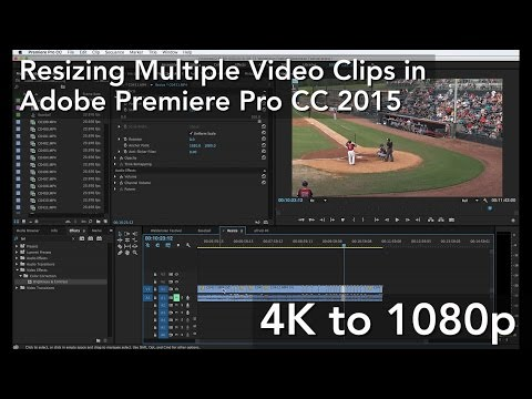 Resizing Multiple Video Clips in Adobe Premiere Pro CC 2015