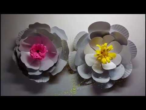 DIY FLOWERS OUT OF RECYCLED PAPER PLATES