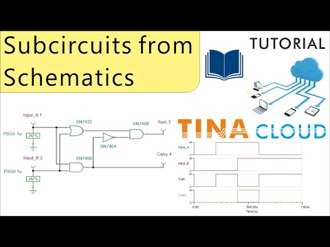 Creating Subcircuits from Schematics with TINACloud