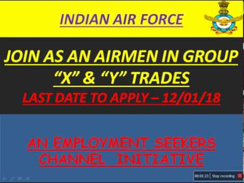JOIN INDIAN AIR FORCE AS AN AIRMEN