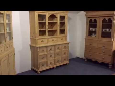 Pine Shop Dresser - Kitchen /Cafe Storage Unit - Pinefinders Old Pine Furniture Warehouse