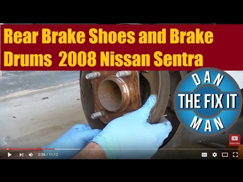 How to Replace Rear Brake Shoes and brake drums on a 2008 Nissan Sentra (drum brakes)