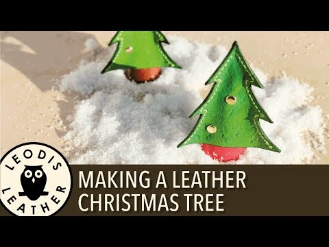 Christmas Leather Craft #1 - Making a Christmas Tree 4K
