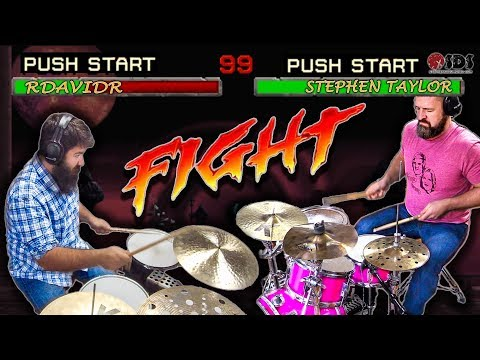 TINY KIT VS. BIG KIT DRUM BATTLE | Stephen Taylor + rdavidr Collab