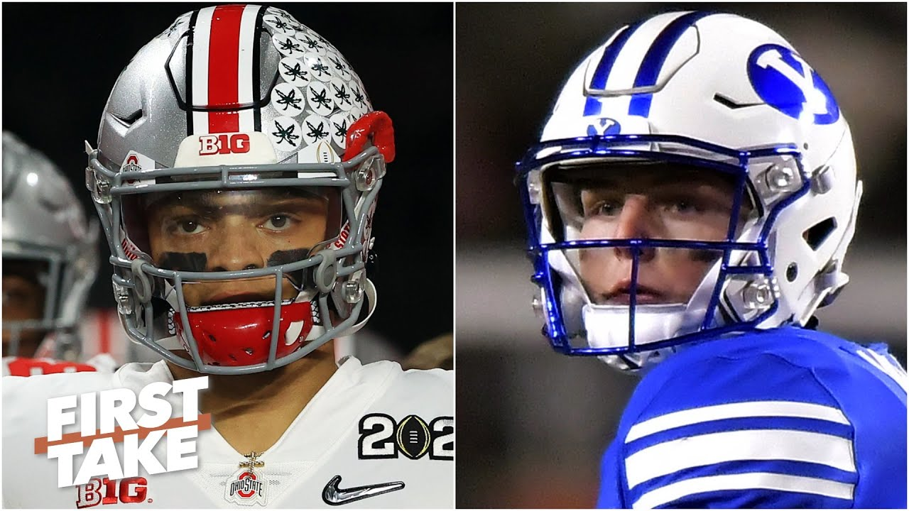Justin Fields vs. Zach Wilson: Which top QB prospect should be drafted first? First Take debates