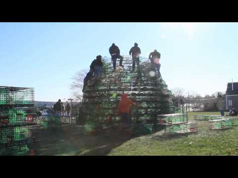 Building Rockland's Lobster Trap Tree
