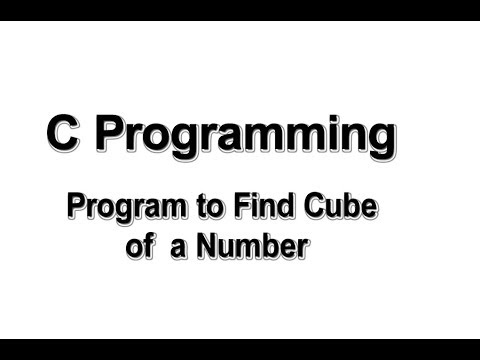 Program to find cube of a number