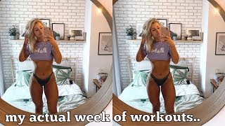 WORKOUT WITH ME FOR A WHOLE WEEK! MY ACTUAL WORKOUT ROUTINE..