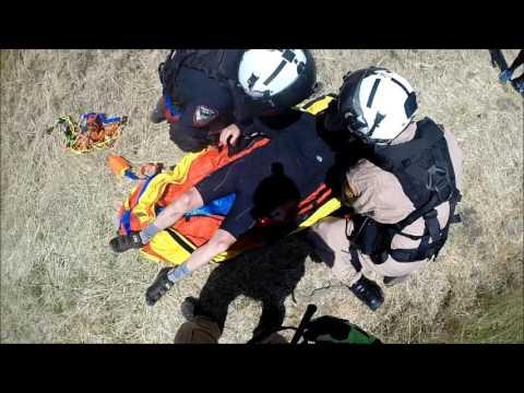 Sheriff's Office STARR 3 Helicopter Short Haul Rescue - Sugar City Trail, Crockett