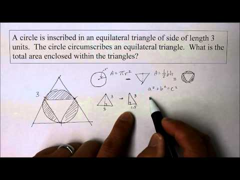 902 GE Part 1 Find the Radius of a Circle Inscribed inside a Triangle